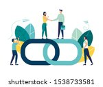 vector illustration  handshake... | Shutterstock .eps vector #1538733581