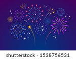 decorative colorful fireworks... | Shutterstock .eps vector #1538756531