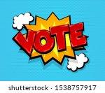 boom vote 2020 usa comic text...   Shutterstock .eps vector #1538757917