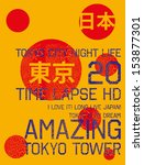japan tokyo city vector art | Shutterstock .eps vector #153877301