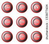 collection of round buttons... | Shutterstock . vector #153877604