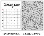 2020 antistress calendar ...   Shutterstock .eps vector #1538785991