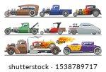 hot rods car vector vintage... | Shutterstock .eps vector #1538789717