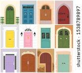 doors vector vintage doorway... | Shutterstock .eps vector #1538789897