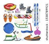 winter sports equipment vector... | Shutterstock .eps vector #1538789921