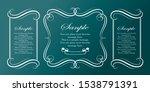 vintage sign frames. old... | Shutterstock .eps vector #1538791391