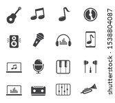 set of music related icon with... | Shutterstock .eps vector #1538804087