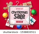 christmas sale vector banner... | Shutterstock .eps vector #1538833511