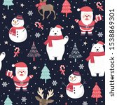 christmas seamless pattern with ...   Shutterstock .eps vector #1538869301