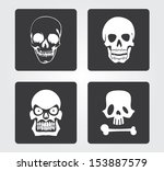 simple web icon in vector ... | Shutterstock .eps vector #153887579