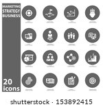 strategy business concept icons ... | Shutterstock .eps vector #153892415