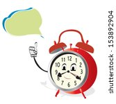 talking alarm clock. animated... | Shutterstock .eps vector #153892904