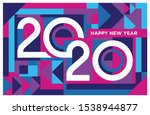 happy new year 2020 banner in... | Shutterstock .eps vector #1538944877