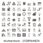 black and white business glyph... | Shutterstock .eps vector #1538964824