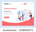 startup project website landing ...