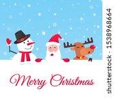 santa claus  reindeer and... | Shutterstock .eps vector #1538968664