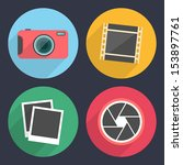 photography icons with long...