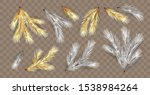 set of golden and silver... | Shutterstock .eps vector #1538984264