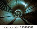 underground metro line | Shutterstock . vector #153898589