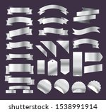 silver retro style ribbons ...   Shutterstock .eps vector #1538991914