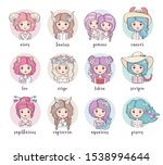Set Of Cute Zodiac Girls....