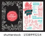 cocktail menu template for... | Shutterstock .eps vector #1538995214