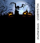 halloween background with... | Shutterstock .eps vector #1538995754