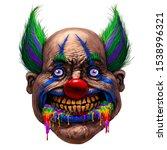 crazy smiling fat clown.... | Shutterstock . vector #1538996321