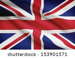 British Flag Blowing In The...