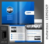 vector blue brochure template... | Shutterstock .eps vector #153902429