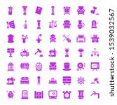 antique icons. editable 49... | Shutterstock .eps vector #1539032567