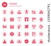 Tower Icon Set. Collection Of...