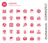 europe icon set. collection of... | Shutterstock .eps vector #1539042917