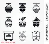 beehive vector icon. beehive...   Shutterstock .eps vector #1539043604