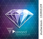 abstract diamond background  ... | Shutterstock .eps vector #153905159