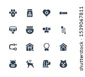 kennel icon set. collection of... | Shutterstock .eps vector #1539067811