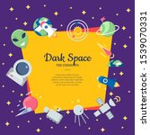 flat space icons background... | Shutterstock . vector #1539070331