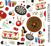 Casino Pattern. Poker Cards...