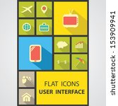user inerface  flat icons for...