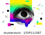 bright vector collage of... | Shutterstock .eps vector #1539111587