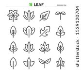 leaf outline icon set... | Shutterstock .eps vector #1539120704