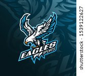 eagle mascot logo design vector ... | Shutterstock .eps vector #1539122627