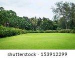 Stock photo peaceful garden 153912299
