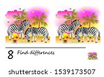 Stock vector find differences logic puzzle game for children and adults printable page for kids brain teaser 1539173507