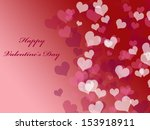 abstract valentine's day... | Shutterstock . vector #153918911