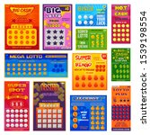 lottery ticket vector lucky... | Shutterstock .eps vector #1539198554
