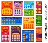 lottery ticket vector lucky... | Shutterstock .eps vector #1539198554