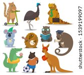 australian animals vector... | Shutterstock .eps vector #1539199097