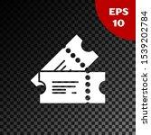 white cinema ticket icon... | Shutterstock .eps vector #1539202784