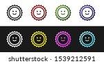 set sun icon isolated on black...   Shutterstock .eps vector #1539212591